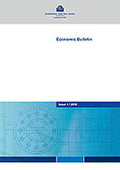 Cover page of the Economic Bulletin